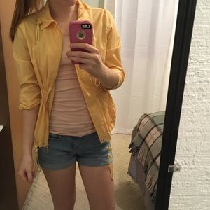 Adorable Yellow Rain-Jacket with 3/4 Length Sleeve